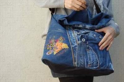 sac kate jean louis scherrer trace jean sac cuir tuto sac en jean facile. Black Bedroom Furniture Sets. Home Design Ideas